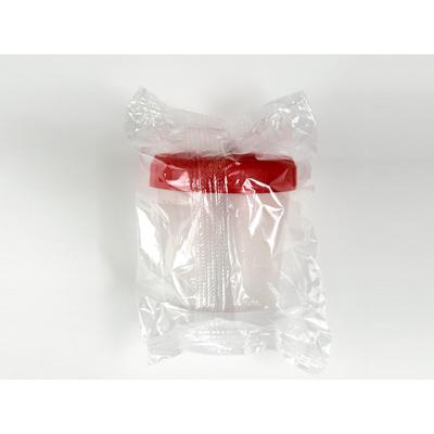 Coletor Urina Translúcido tampa vermelha a granel (80ml)- 500/pacote